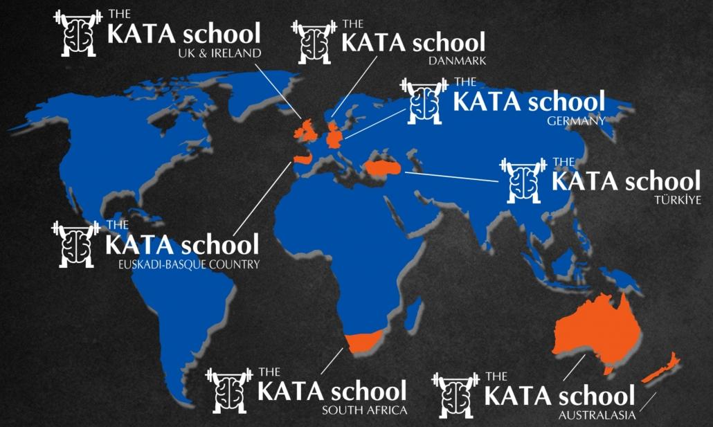 Weltkarte mit allen KATA schools